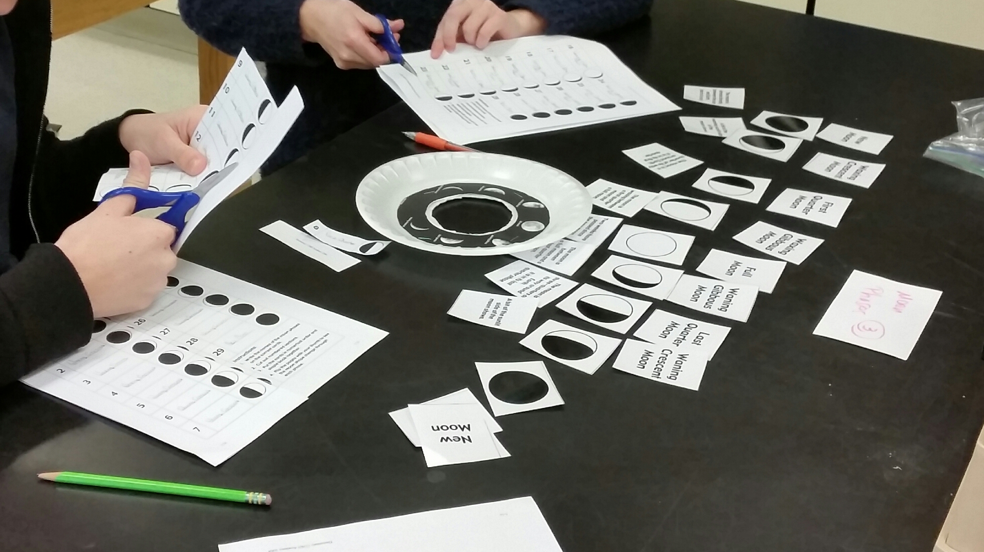 Moon Phases Flip Book Birthday And Matching Activities Middle