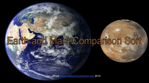 Earth & Mars Comparison Chart