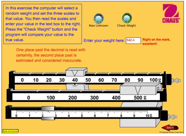 Image: Ohaus Scale Reading Exercise