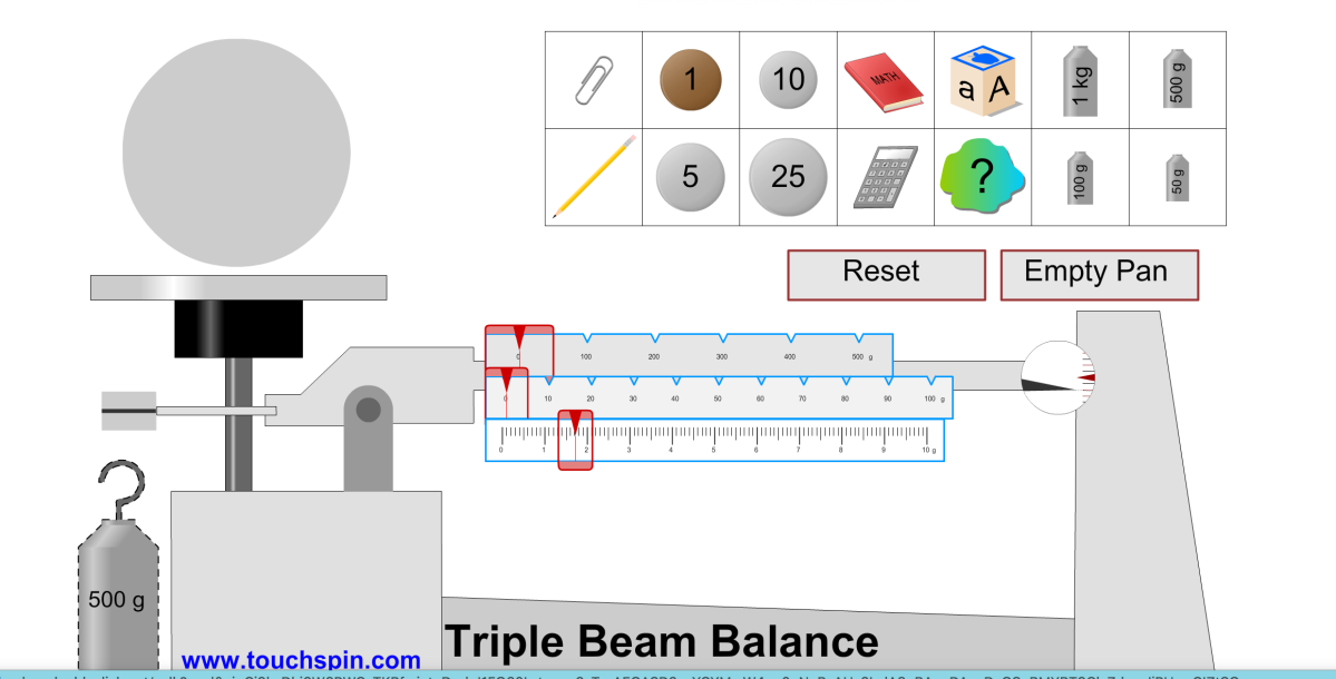 Reading A Triple Beam Balance Updated Middle School Science Blog