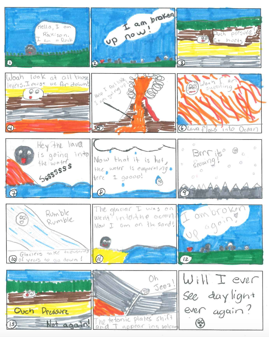 worksheet The Rock Cycle Worksheet ride the rock cycle comic strip adventure middle school student made materials lesson